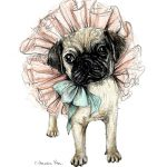 Homebodii Print Pug Front On lores