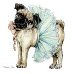 Homebodii Print Pug Side On lores