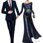 Harry and Meghan Navy Black Tie lores